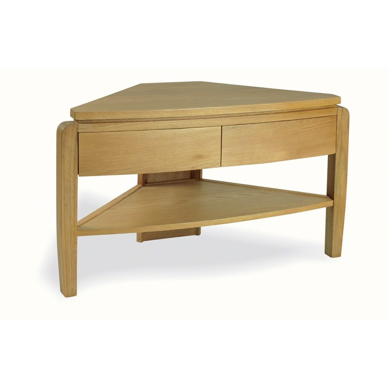 Brilliant New Small Oak Corner TV Stands With Grampian Furnishers Waldorf Oak Corner Tv Unit Bluebone (View 38 of 50)