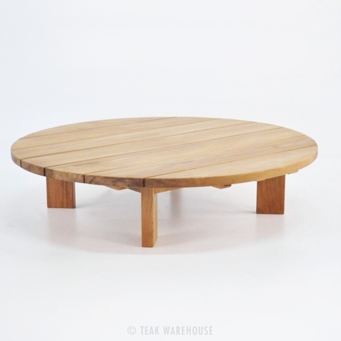 Brilliant New Soho Coffee Tables Throughout Soho Teak Outdoor Coffee Table Round Patio Furniture Teak (Image 15 of 40)