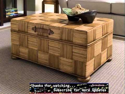 Brilliant New Trunk Coffee Tables Inside Wicker Trunk Coffee Table Wicker Furniture Ideas Youtube (View 40 of 50)