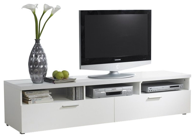Brilliant New TV Stands White Throughout Hayward Tv Stand White 71 Modern Entertainment Centers And (View 9 of 50)
