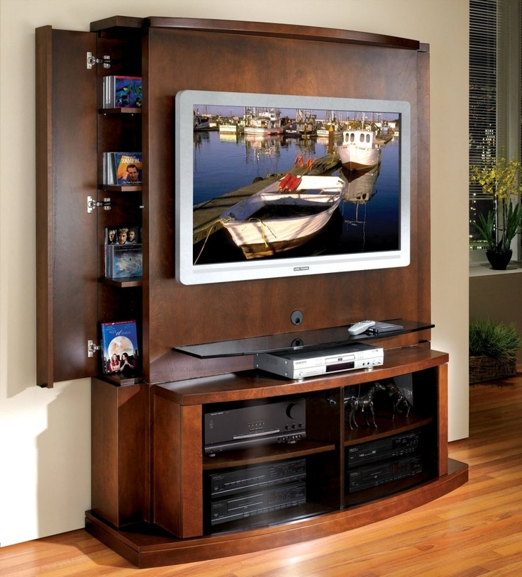 Brilliant New TV Stands With Back Panel Pertaining To Best 25 Flat Screen Tv Stands Ideas On Pinterest Flat Screen (Image 12 of 50)