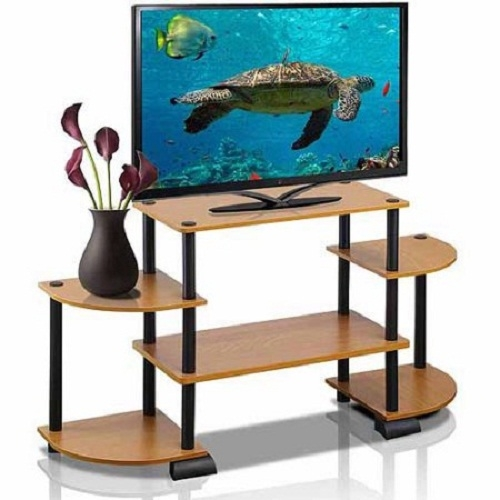 Brilliant New TV Stands With Rounded Corners With Tv Stand Entertainment Center Media Console Rounded Corner Stylish (View 31 of 50)