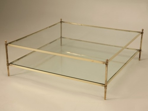 Brilliant New Vintage Glass Coffee Tables With Regard To Vintage Brass Glass Coffee Table Ideas (Image 11 of 50)