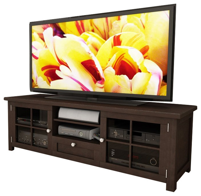 Brilliant Popular Bench TV Stands Inside Sonax Arbutus 63 Dark Espresso Stained Tv Bench In Espresso (Image 8 of 50)