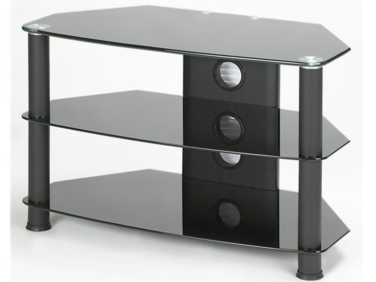 Brilliant Popular Black Glass TV Stands With Regard To Best 25 Black Glass Tv Stand Ideas On Pinterest Penthouse Tv (Image 15 of 50)