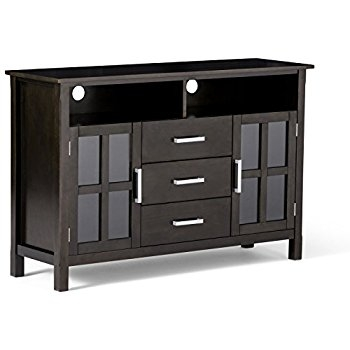 Brilliant Popular Black TV Cabinets For Amazon Simpli Home Artisan Tv Media Stand For Tvs Up To  (Image 8 of 50)