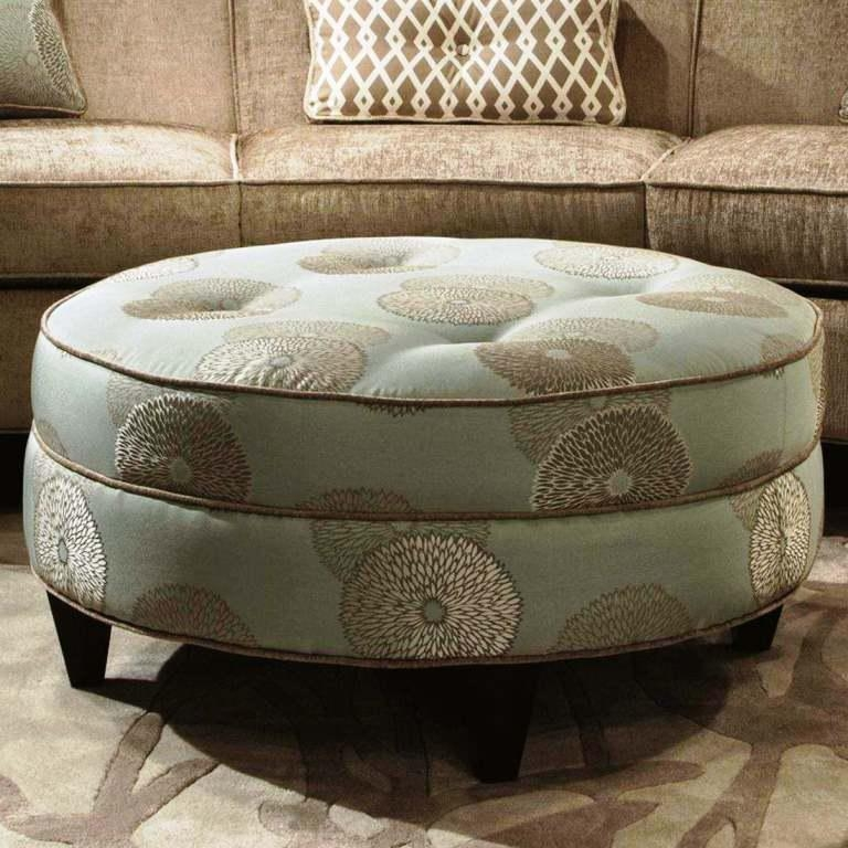 Brilliant Popular Brown Leather Ottoman Coffee Tables With Storages Within Coffee Table Astonishing Small Round Ottoman Coffee Table (Image 8 of 40)