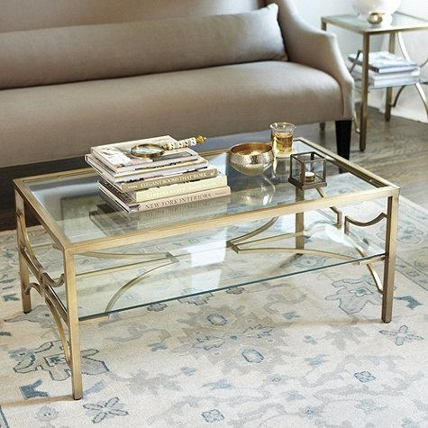 Brilliant Popular Glass Gold Coffee Tables Within Luxurious Gold Coffee Table (View 3 of 50)