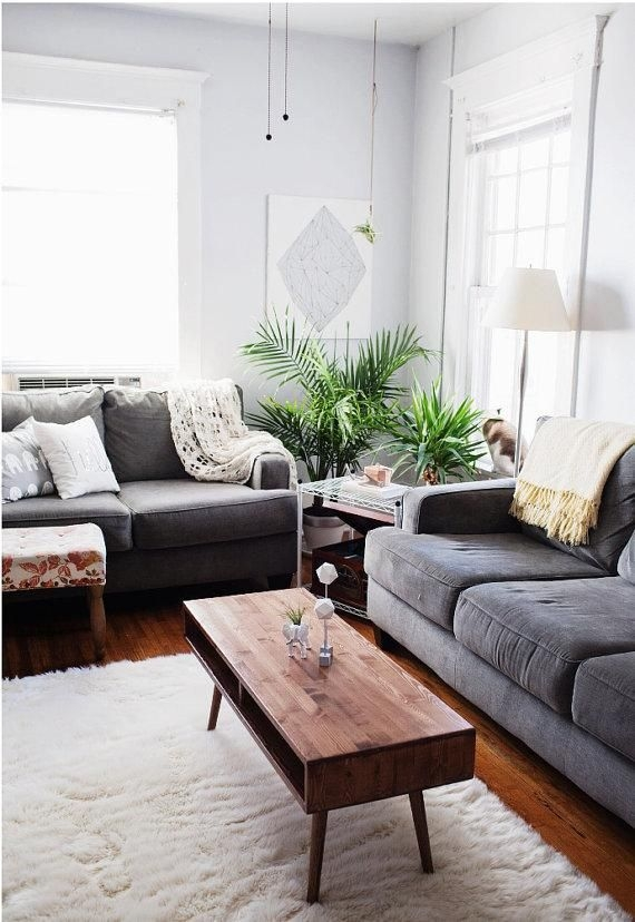 Brilliant Popular Grey Wood Coffee Tables Intended For 25 Best Grey Couch Rooms Ideas On Pinterest Grey Living Room (Image 10 of 50)
