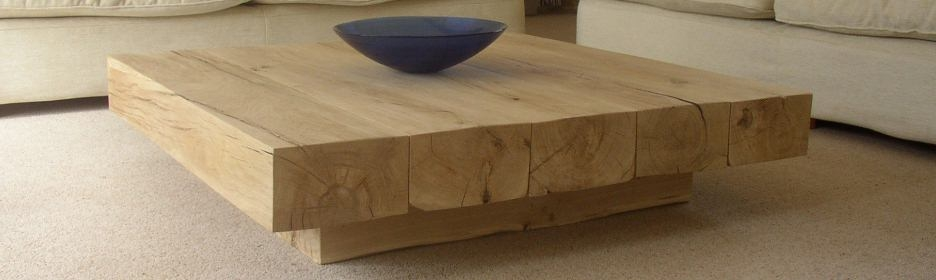 Brilliant Por Large Low Oak Coffee Tables Inside Rustic Square Table Image 17 Of