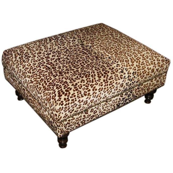 Brilliant Popular Leopard Ottoman Coffee Tables Intended For Leopard Printed Upholstered Ottoman At 1stdibs (Image 10 of 40)