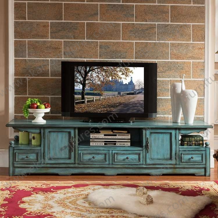 Brilliant Popular Long Wood TV Stands For Old Style Vintage Long Seafoam Green Tv Stand M  (Image 12 of 50)
