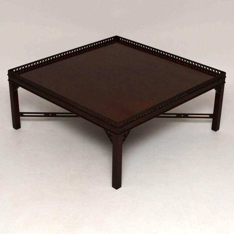 Brilliant Popular Mahogany Coffee Tables With Regard To Large Antique Georgian Style Mahogany Coffee Table At 1stdibs (Image 7 of 50)