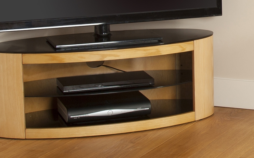 Brilliant Popular Oak Veneer TV Stands Throughout Buy Avf Buckingham 1100 Tv Stand Free Delivery Currys (Image 14 of 50)