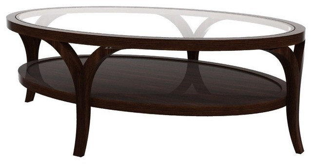 Featured Image of Oval Glass And Wood Coffee Tables