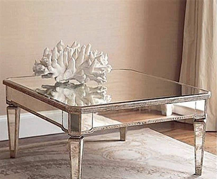 Brilliant Popular Oval Mirrored Coffee Tables In Square Mirrored Coffee Table The Attractive Mirrored Coffee (Photo 31 of 50)