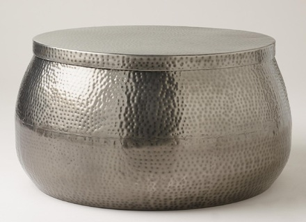 Brilliant Popular Silver Drum Coffee Tables With Round Metal Glass Coffee Table Jerichomafjarproject (Image 7 of 50)