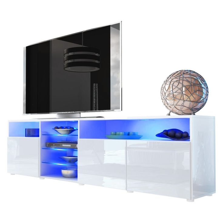 Brilliant Popular White High Gloss TV Stands Unit Cabinet Regarding 14 Best Tv Stand Cabinet Images On Pinterest Tv Stands Tv (Image 14 of 50)