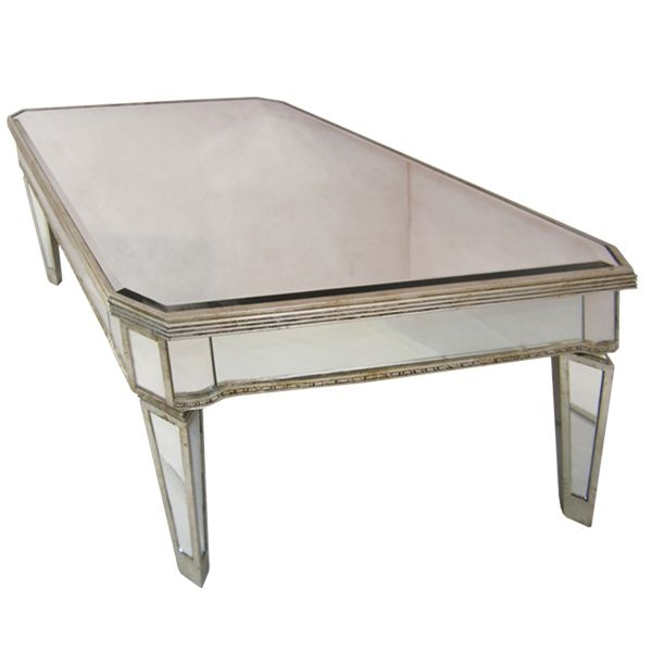 Brilliant Preferred Antique Mirrored Coffee Tables Inside Antique Gold Mirrored Coffee Table Vanities Decoration (Image 10 of 40)