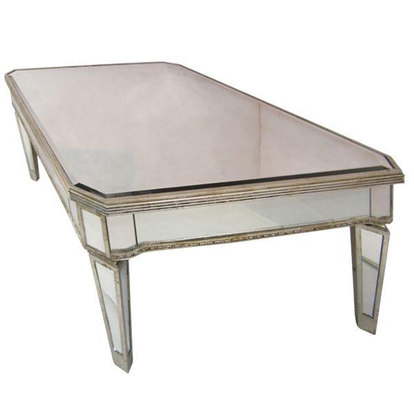 Brilliant Preferred Antique Mirrored Coffee Tables Inside Antique Gold Mirrored Coffee Table Vanities Decoration (View 4 of 40)