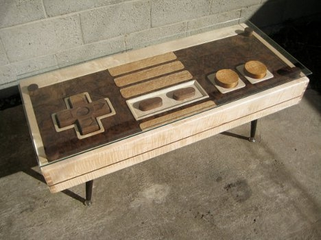 Brilliant Preferred Art Coffee Tables Within Nes Controller Coffee Table Is A Dual Functional Work Of Art (Image 11 of 50)