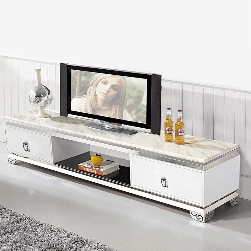 Brilliant Preferred Bench TV Stands Inside Durablemodern Tv Stands Marble Top Stainless Steel Tv Stand Tv (Image 9 of 50)