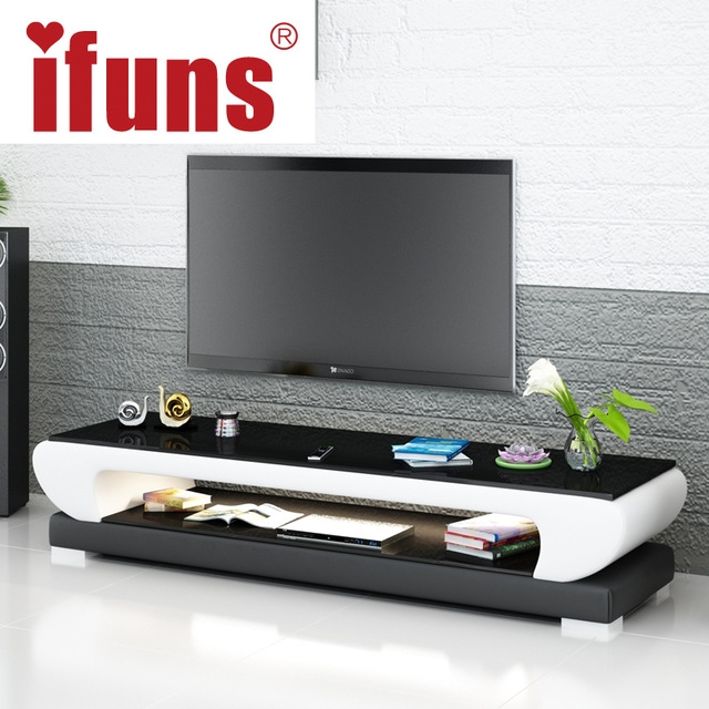 Brilliant Preferred Cheap White TV Stands Regarding Aliexpress Buy Ifuns New Design Modern White Black Brown (Image 13 of 50)