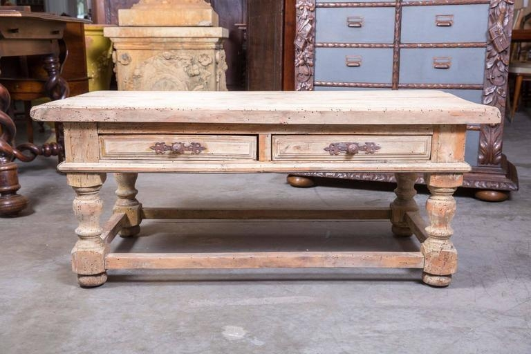 Brilliant Preferred Country French Coffee Tables With Regard To Country French Bleached Wood Coffee Table At 1stdibs (Image 7 of 50)