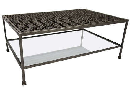 Brilliant Preferred Glass And Black Metal Coffee Table For White Coffee Table With Glass Top And Metal Legs Jericho Mafjar (Image 8 of 50)