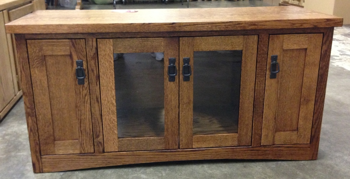 Brilliant Preferred Glass And Oak TV Stands Throughout Entertainment Tv Stands Stereo Cabinets Portland Oak (Image 6 of 50)