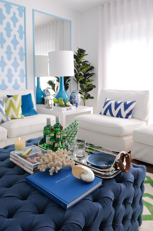 Brilliant Preferred Green Ottoman Coffee Tables Inside Navy Blue Sectional With Green Leather Ottoman Coffee Table (Image 14 of 50)