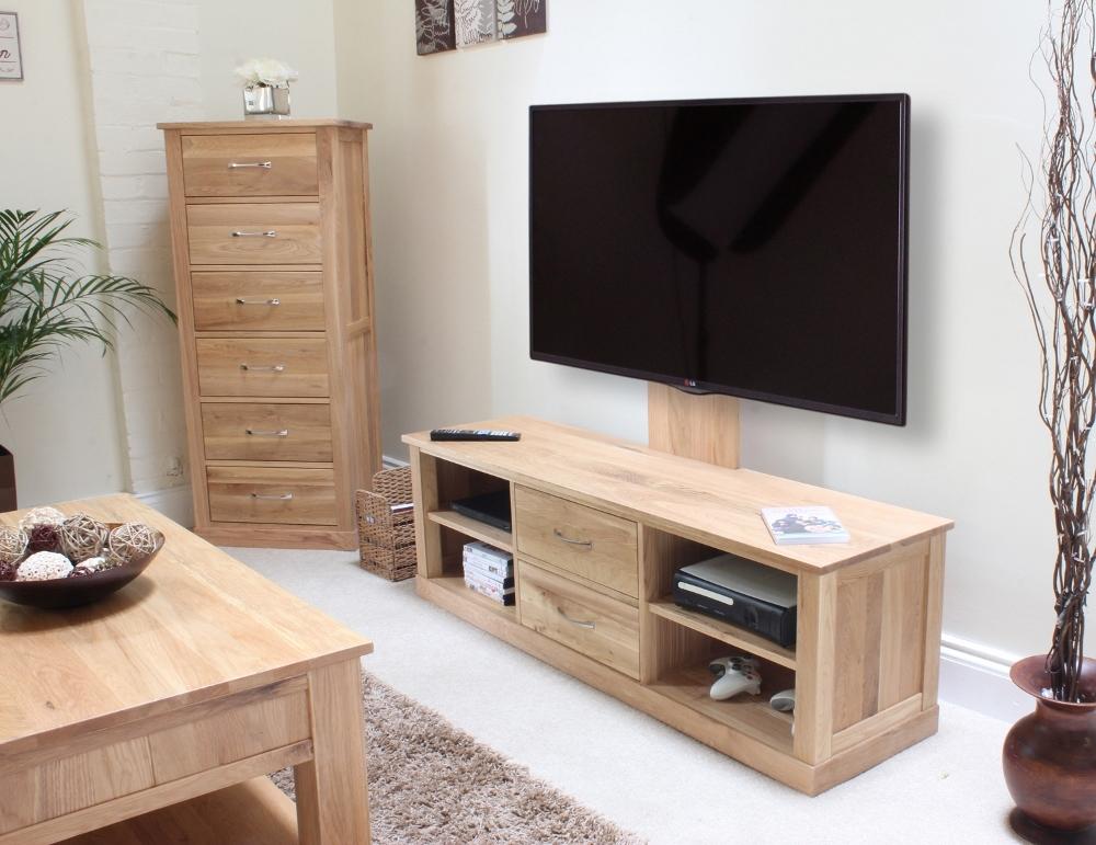 Brilliant Preferred Light Oak TV Cabinets In Mobel Oak Mounted Widescreen Television Cabinet Cor09e (Image 11 of 50)