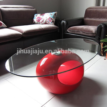 Brilliant Preferred Oval Shaped Glass Coffee Tables With Glass Coffee Tablesanimal Glass Coffee Tableoval Shape Glass (Image 11 of 50)