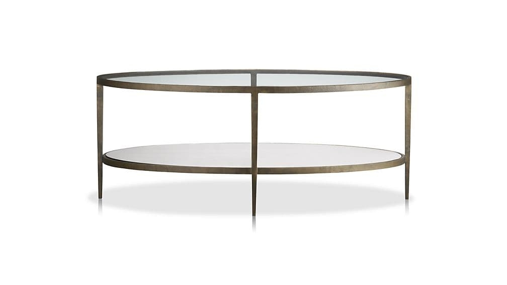 Brilliant Preferred Oval Shaped Glass Coffee Tables With Regard To Clairemont Oval Coffee Table Crate And Barrel (Image 12 of 50)