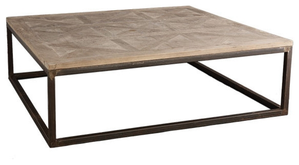 Brilliant Preferred Oversized Square Coffee Tables Regarding Reclaimed Wood Square Coffee Table Wb Designs (Image 13 of 50)