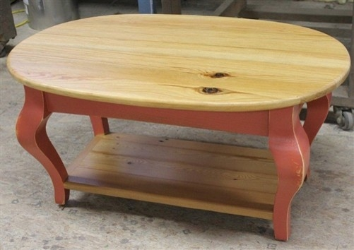 Brilliant Preferred Pine Coffee Tables With Regard To Oval Coffee Table From Reclaimed Pine (Image 13 of 50)