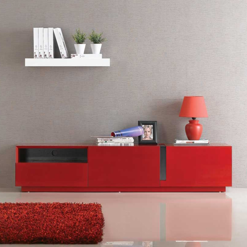 Brilliant Preferred Red Gloss TV Stands Within Jm Furniture Tv Stand 027 In Red High Gloss Beyond Stores (Image 11 of 50)
