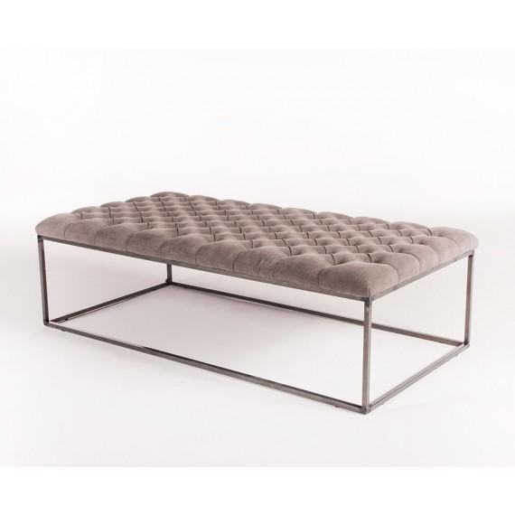 Brilliant Preferred Round Upholstered Coffee Tables Regarding Tables Round Tufted Linen Coffee Table (Image 10 of 40)