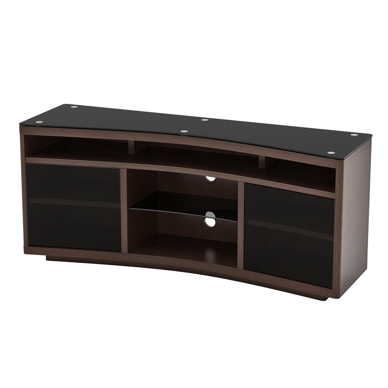 Brilliant Preferred Smoked Glass TV Stands Regarding Shop Modern Tv Stands At Pc Richard Son (View 42 of 50)