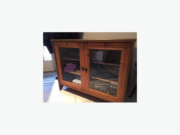 Brilliant Preferred Solid Pine TV Cabinets Pertaining To Ikea Leksvik Solid Pine Tv Cabinet With Glass Doors Cobble Hill (Image 12 of 50)