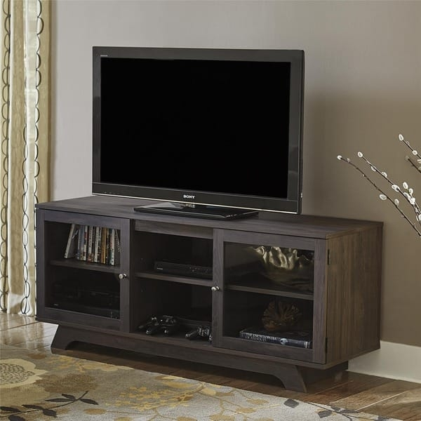 Brilliant Preferred TV Stands For 55 Inch TV Throughout Ameriwood Home Englewood Weathered Oak 55 Inch Tv Stand Free (Image 11 of 50)