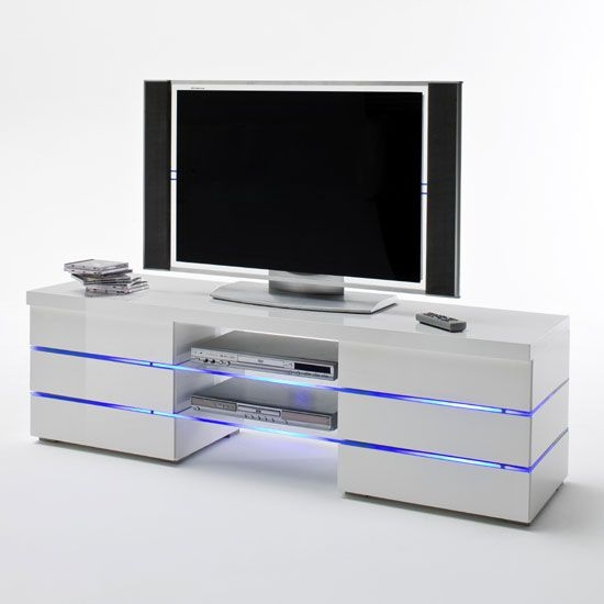 Brilliant Preferred White Glass TV Stands Throughout 38 Best Tv Stands Images On Pinterest High Gloss Tv Stands And (Image 16 of 50)