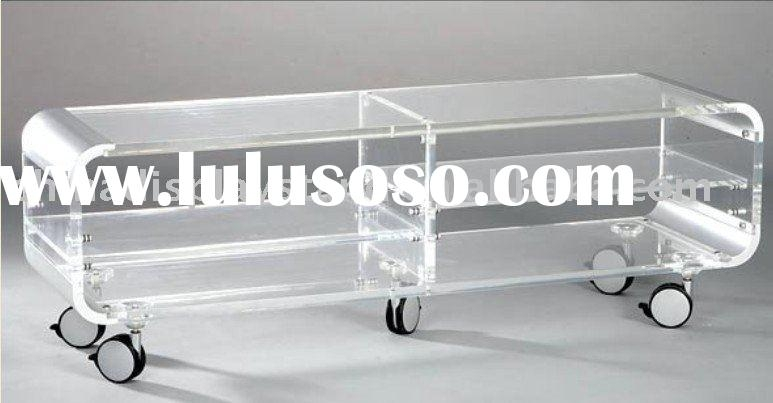 Brilliant Premium Acrylic TV Stands Inside Acrylic Tv Stand Acrylic Tv Stand Manufacturers In Lulusoso (View 12 of 50)