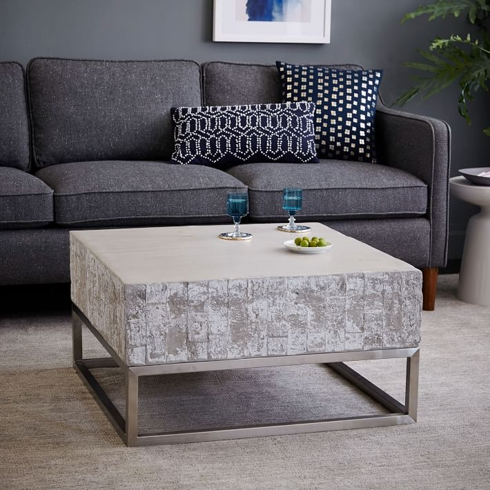 Brilliant Premium Chrome And Wood Coffee Tables With Concrete Chrome Coffee Table West Elm (Image 7 of 50)