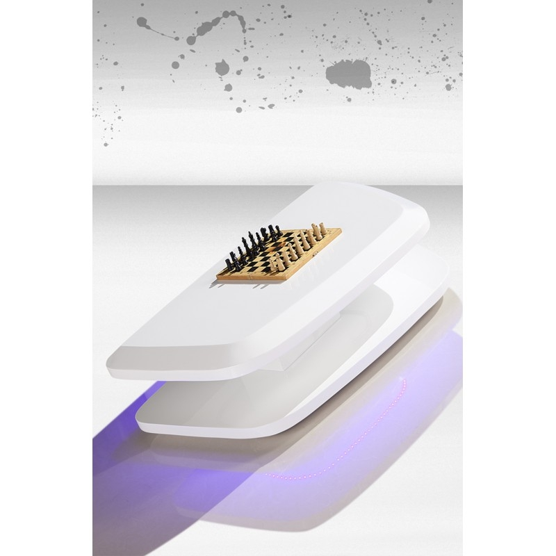 Brilliant Premium Cosmo Coffee Tables With Regard To Cosmo Coffee Table With Led Light Stylmart Nv (Image 13 of 50)