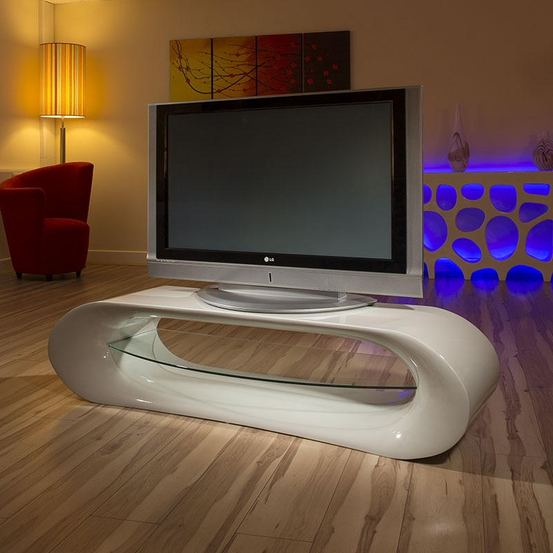 Brilliant Premium Curve TV Stands Inside Ultra Modern Curved Tv Standcabinetunit Large 16mtr Grey Gloss (View 36 of 50)