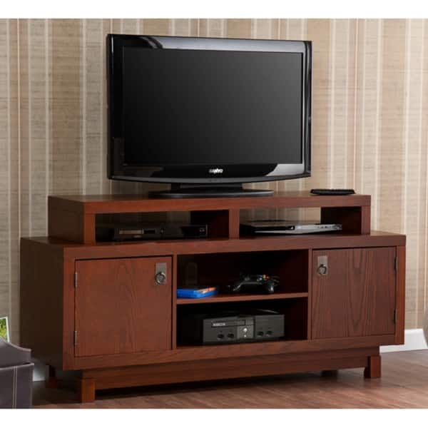 Brilliant Premium Emerson TV Stands With Emerson Brown Mahogany Tv Media Stand Free Shipping Today (Image 8 of 50)