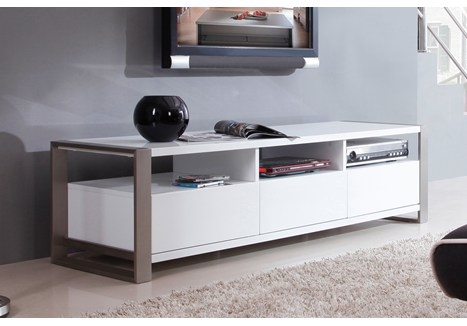 Brilliant Premium Modern White TV Stands Regarding B Modern Stylist 63 High Gloss White Tv Stand Bm 110 Wht (Image 13 of 50)