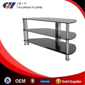 Brilliant Premium Oval Glass TV Stands For Living Roon Furniture Universal Table Top Tv Stand Glass Tv Table (Image 10 of 50)