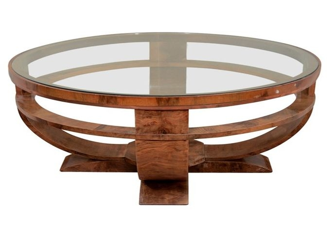 Brilliant Premium Round Glass And Wood Coffee Tables Regarding Enchanting Wood Glass Coffee Table Wood And Glass Coffee Tables (Image 9 of 50)